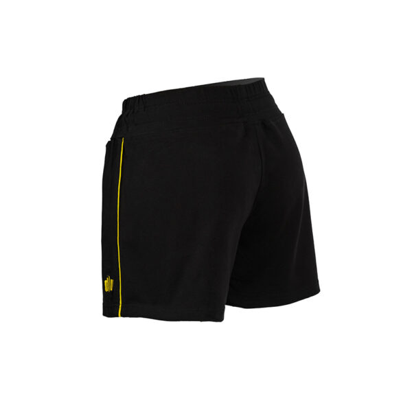 087-Double-U-shorts-nero-giallo-retro