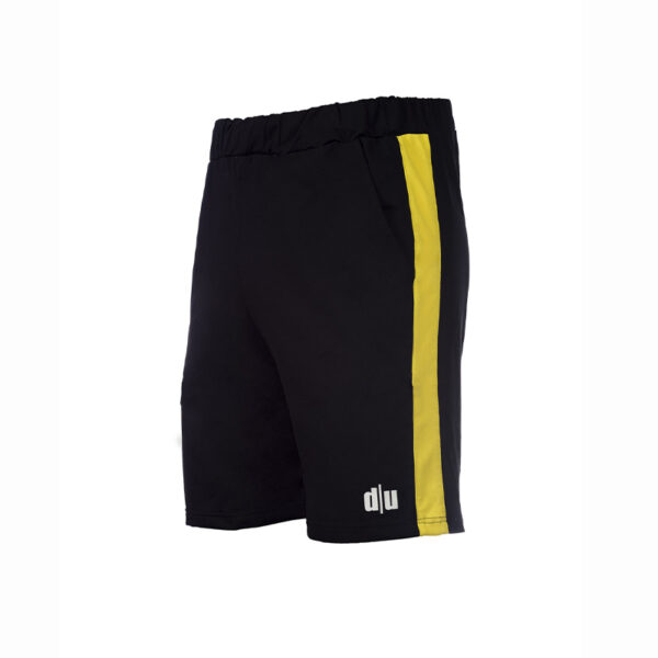100-Double-U-tennis-shorts-nero-giallo